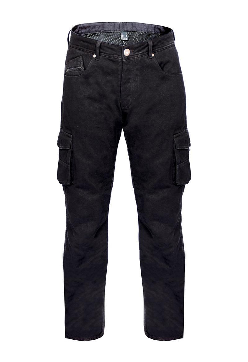 050-0009_Bores_Cargo_Motorradhose_Jeans_schwarz_vorn